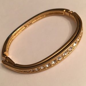 Swarovski gold tone bangle